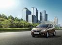 Фото авто Renault Sandero 2 поколение [рестайлинг], ракурс: 45 цвет: коричневый