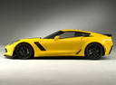 Фото авто Chevrolet Corvette C7, ракурс: 90 цвет: желтый