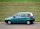 Фото авто Fiat Punto 1 поколение, ракурс: 90 цвет: аквамарин