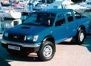 Фото авто Nissan Navara D22, ракурс: 45 цвет: синий