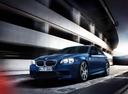 Фото авто BMW M5 F10 [рестайлинг], ракурс: 45 цвет: синий