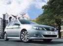 Фото авто Subaru Impreza 3 поколение, ракурс: 315 цвет: серебряный