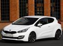 Фото авто Kia Cee'd 2 поколение, ракурс: 45 цвет: белый