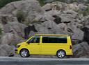 Фото авто Volkswagen California T6, ракурс: 90 цвет: желтый