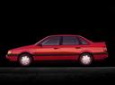 Фото авто Volkswagen Passat B3, ракурс: 90 цвет: красный