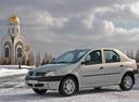 Фото авто Renault Logan 1 поколение, ракурс: 45 цвет: серебряный
