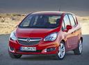 Фото авто Opel Meriva 2 поколение [рестайлинг], ракурс: 45 цвет: красный