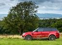 Фото авто Land Rover Range Rover Sport 2 поколение [рестайлинг], ракурс: 90 цвет: красный