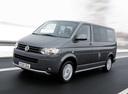 Фото авто Volkswagen Multivan T5 [рестайлинг], ракурс: 45 цвет: серый