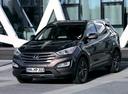 Фото авто Hyundai Santa Fe DM, ракурс: 45 цвет: коричневый
