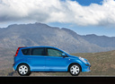 Фото авто Nissan Note E11, ракурс: 270 цвет: синий