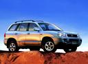 Фото авто Hyundai Santa Fe SM, ракурс: 270 цвет: серебряный