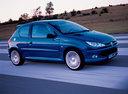 Фото авто Peugeot 206 1 поколение [рестайлинг], ракурс: 315 цвет: синий