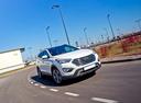 Фото авто Hyundai Santa Fe DM, ракурс: 315 цвет: белый