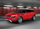 Фото авто Land Rover Range Rover Evoque L538, ракурс: 45 цвет: красный