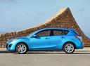 Фото авто Mazda 3 BL, ракурс: 90 цвет: голубой