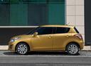 Фото авто Suzuki Swift 4 поколение [рестайлинг], ракурс: 90 цвет: желтый