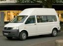 Фото авто Volkswagen Transporter T5, ракурс: 45 цвет: белый