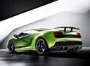 Фото авто Lamborghini Gallardo 1 поколение, ракурс: 135 цвет: зеленый
