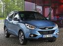Фото авто Hyundai ix35 1 поколение [рестайлинг], ракурс: 315 цвет: голубой