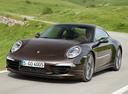 Фото авто Porsche 911 991, ракурс: 45 цвет: бордовый