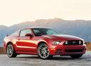 Фото авто Ford Mustang 5 поколение [2-й рестайлинг], ракурс: 315 цвет: бордовый