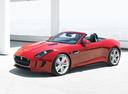 Фото авто Jaguar F-Type 1 поколение, ракурс: 45 цвет: красный