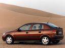 Фото авто Opel Astra G, ракурс: 90 цвет: бордовый