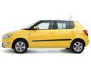 Фото авто Skoda Fabia 5J [рестайлинг], ракурс: 90 цвет: желтый