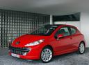 Фото авто Peugeot 207 1 поколение, ракурс: 90 цвет: красный