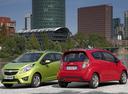 Фото авто Chevrolet Spark M300, ракурс: 225 цвет: красный