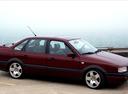 Фото авто Volkswagen Passat B3, ракурс: 270 цвет: бордовый