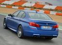 Фото авто BMW M5 F10 [рестайлинг], ракурс: 135 цвет: синий