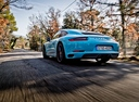 Фото авто Porsche 911 991 [рестайлинг], ракурс: 135 цвет: аквамарин