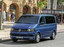 Фото авто Volkswagen Multivan T6, ракурс: 45 цвет: синий