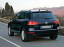 Фото авто Volkswagen Touareg 2 поколение, ракурс: 135 цвет: синий