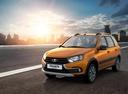 Фото авто ВАЗ (Lada) Granta 1 поколение [рестайлинг], ракурс: 45 цвет: оранжевый