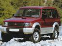 Фото авто Mitsubishi Pajero 2 поколение, ракурс: 45 цвет: бордовый