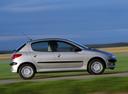 Фото авто Peugeot 206 1 поколение [рестайлинг], ракурс: 270 цвет: серебряный