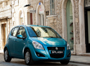 Фото авто Suzuki Splash 1 поколение [рестайлинг], ракурс: 315 цвет: голубой