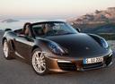 Фото авто Porsche Boxster 981, ракурс: 315 цвет: коричневый