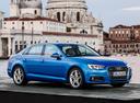 Фото авто Audi A4 B9, ракурс: 315 цвет: голубой