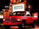 Фото авто Dodge Ram 2 поколение, ракурс: 45 цвет: красный