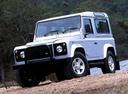 Фото авто Land Rover Defender 1 поколение, ракурс: 45 цвет: серебряный
