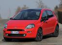 Фото авто Fiat Punto 3 поколение [2-й рестайлинг], ракурс: 45 цвет: красный