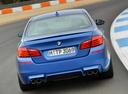 Фото авто BMW M5 F10 [рестайлинг], ракурс: 180 цвет: синий