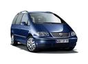Фото авто Volkswagen Sharan 1 поколение [2-й рестайлинг], ракурс: 315 цвет: синий