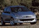 Фото авто Peugeot 206 1 поколение [рестайлинг], ракурс: 315 цвет: серебряный