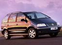 Фото авто Volkswagen Sharan 1 поколение [2-й рестайлинг], ракурс: 270 цвет: синий