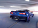 Фото авто Chevrolet Corvette C7, ракурс: 225 цвет: синий